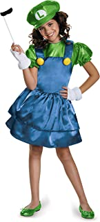 Disguise Luigi Skirt Version Costume, Small (4-6x)