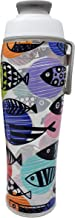 50 Strong Reusable Water Bottle with Leakproof Chug Lid & Carry Loop - BPA Free Tritan Plastic with Cute Designs - Great for Sports, Travel & Gym - Colorful Designer Print - Made in USA