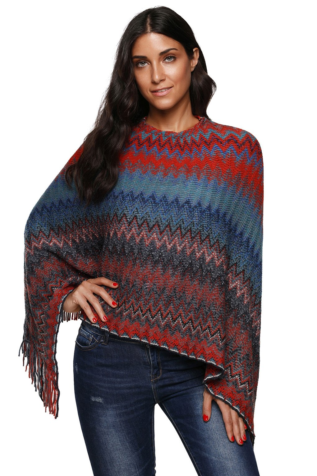 Knit Poncho Pattern With Sleeve - 1000 Free Patterns