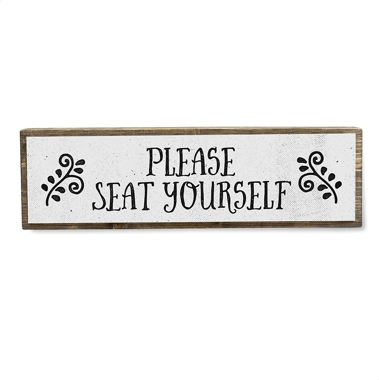 ANVEVO Please Seat Yourself - Metal Wood shop Light Sign Max 86% OFF Cute –