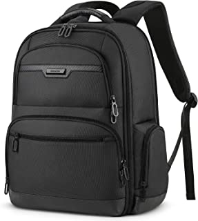 SHIELON Anti-Theft Travel Laptop Backpack, Durable Business 15.6-inch Laptop 19L Backpack, Water Resistant Daypack Carry-on College School Computer Bag for Women and Men - Black