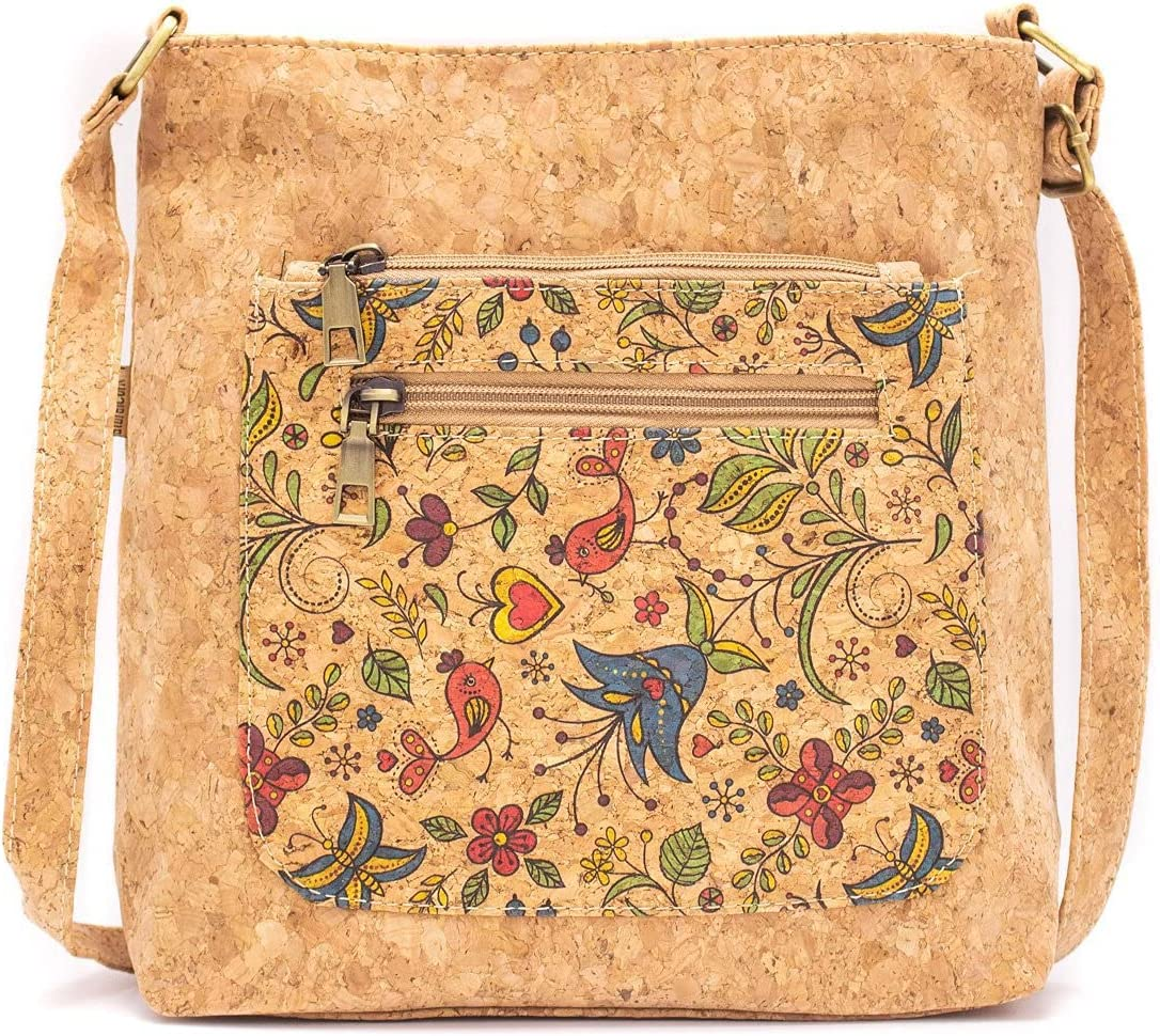 Eco Friendly Sardines and Butterflies Patterned Crossbody Bag BAG-2021-A