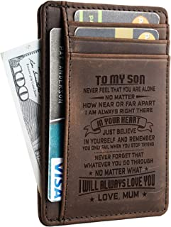 NapaWalli Wife To Husband Father Mother to Son Gift Best Anniversary Christmas Birthday Gifts Slim Wallet