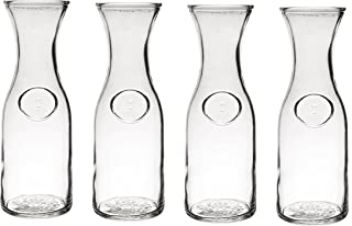 Glass Water or Wine Carafe - 1 Liter (4)