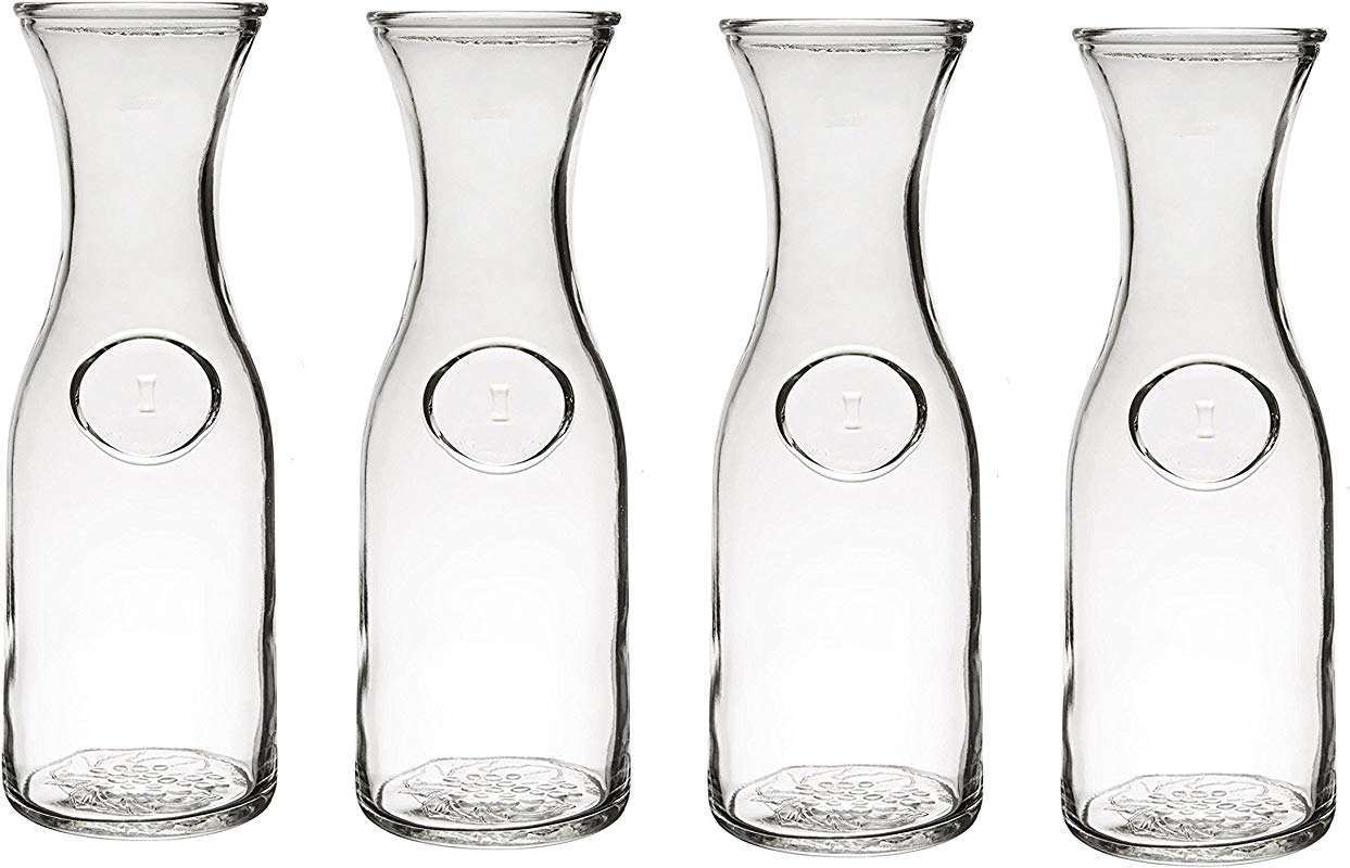 Glass Water Or Wine Carafe 1 Liter 4