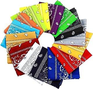 15pcs Bandanas Multi-Purpose Polyester Bandanas Party Outdoor Favor Scarf Headband Handkerchiefs for Unisex Women Men Boy ...