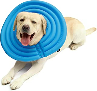 UsefulThingy Dog Recovery Collar - Soft Comfy Cone E-Collar After Surgery, Anti-Bite/Lick - for Cats Too, Quicker Healing - 4 Sizes, 2 Colors