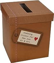 Neviti Just My Type-Wedding Deseos buzón de Correos, Papel, marrón, 14,3x 14,3x 17cm