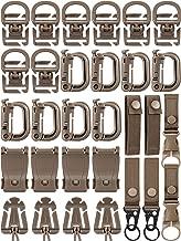 30 Pieces Molle Attachments Set Tactical Gear Clip Strap for Backpack Webbing D Ring Dominators Tactical Vest Belt