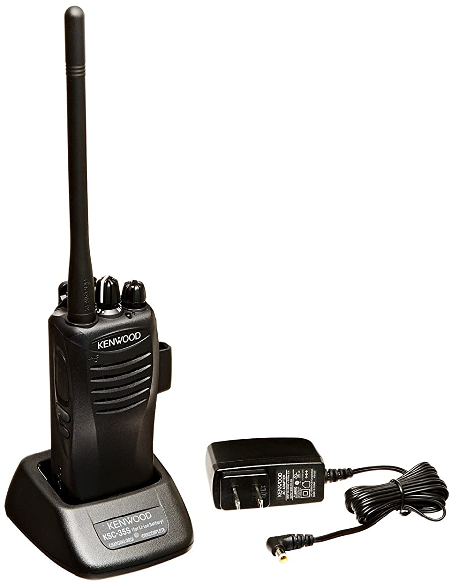 Kenwood TK-2400VP Protalk Compact 4 and 16 Channel VHF/UHF 2 Watt Portable Radio, Wireless Cloning, Black Color