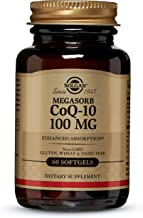 Solgar Megasorb CoQ-10 100 mg, Enhanced Absorption, Non-GMO, 60 Softgels