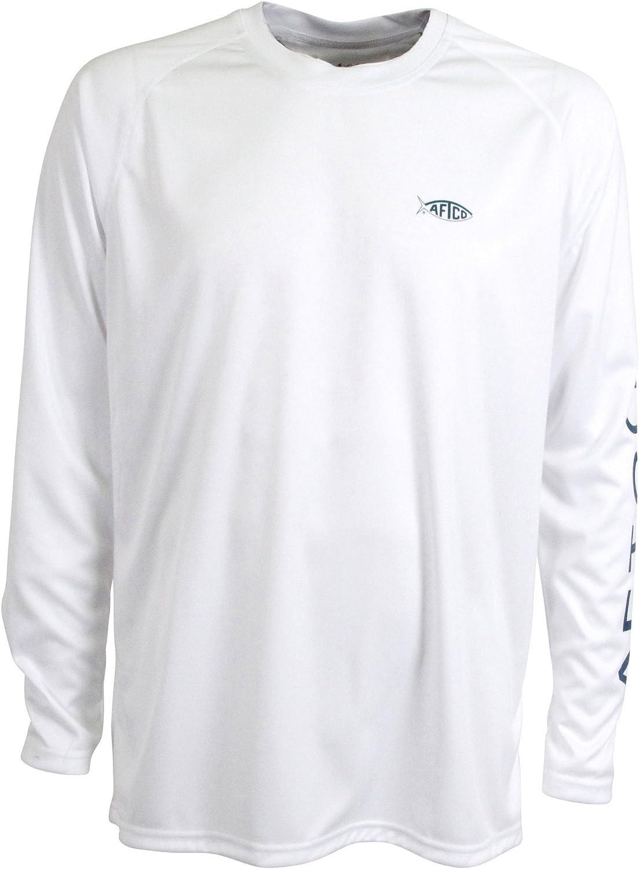 AFTCO Samurai Performance Long Sleeve - Japan's Low price largest assortment White Large Shirt