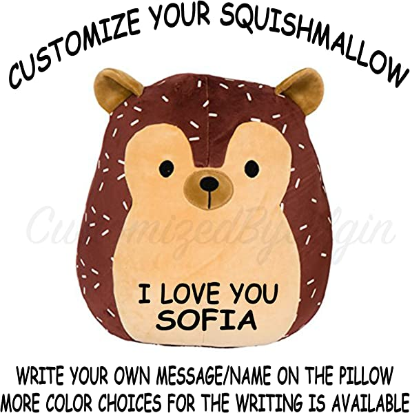 Squishmallow Customized Original Kellytoy Hans The Hedgehog 8 Create Your Own Super Soft Plush Toy Stuffed Animal Pet Pillow Gift Holiday Birthday