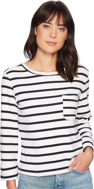 Bishop & Young Women's Stripe Back Laceup Top Black Stripe Medium