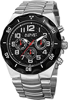 August Steiner Men's Dial Stainless Steel Band Watch - AS8161SSB
