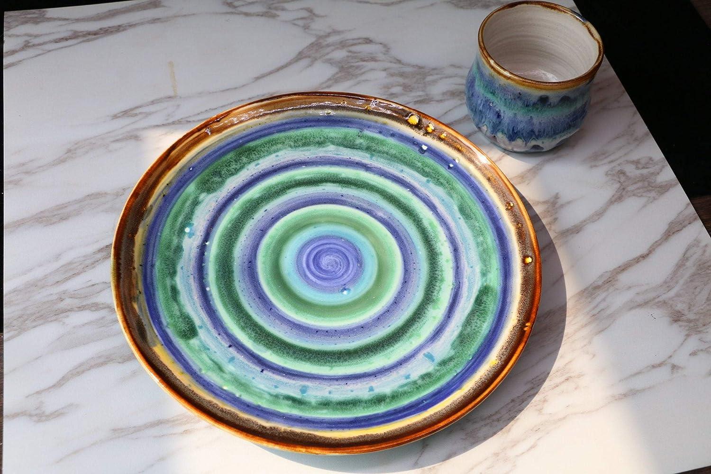 Rainbow Ranking TOP15 plate Max 45% OFF Dinner Platter pottery handmade plates S