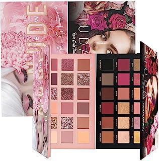 HUDA GIRL Beauty Rose Gold Remastered Edition + Nude Edition Eyeshadow Makeup Kit ( Combo Kit of 2 Eyeshadow )