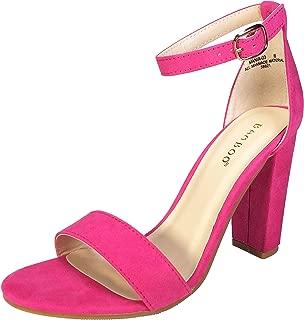 neon sandals heels