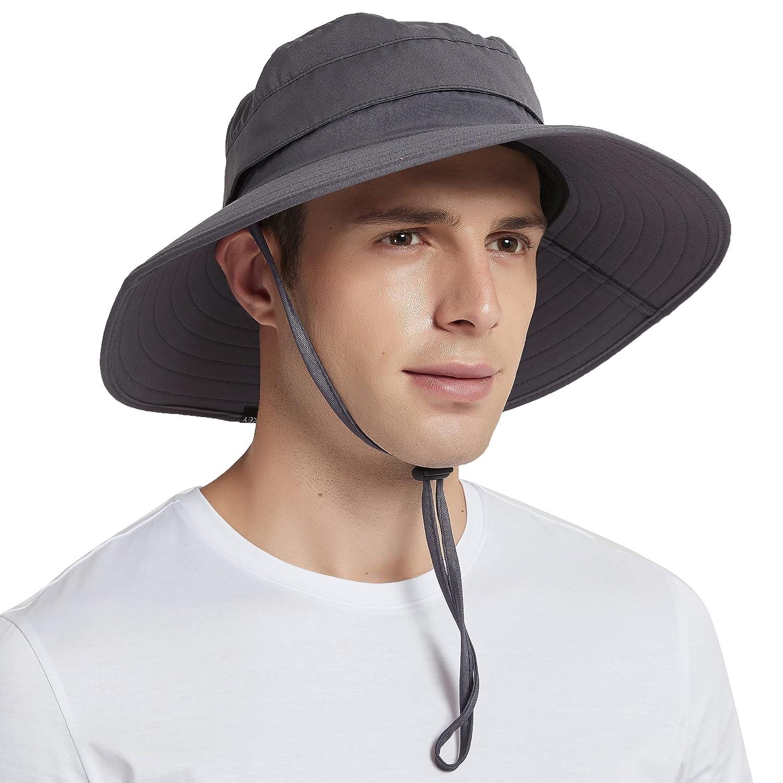 EINSKEY Sun Hat for Men/Women, Summer Outdoor Sun Protection Wide Brim  Bucket Hat Waterproof Breathable Packable Boonie Hat for Safari Fishing  Hiking Beach Golf: Buy Online at Best Price in UAE -