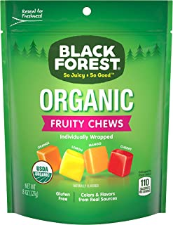 Black Forest Organic Fruity Chews Candy, 8-Ounce Bag (Pack of 6)