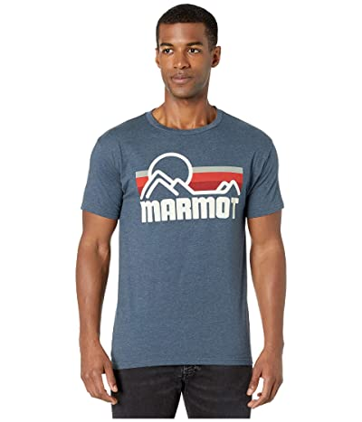 Marmot Short Sleeve Coastal Tee (True Navy Heather) Men