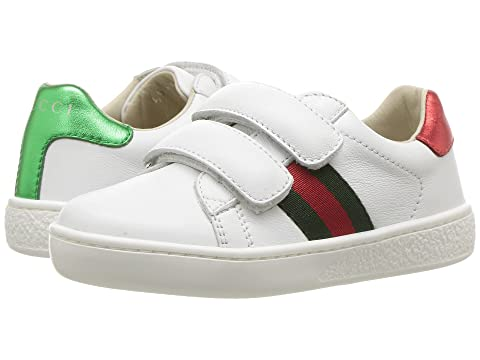 55b365ba85f Gucci Kids New Ace V.L. Sneakers (Toddler) at Luxury.Zappos.com