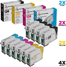 LD Remanufactured Ink Cartridge Replacement for Epson 126 (4 Black, 2 Cyan, 2 Magenta, 2 Yellow, 10-Pack)