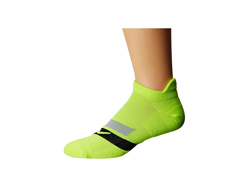 Nike Dri-Fit Cushion Dynamic Arch No-Show Running Socks (Volt/Black/Cool Grey) No Show Socks Shoes