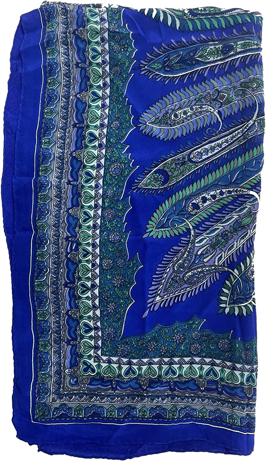 Silk Scarf With Crepe Print for Women Girls. and Max 57% OFF Max 42% OFF
