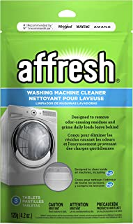 Affresh W10135699 Washing Machine Cleaner | Cleans Front Top Load Washers, Including HE, 3 Tablets, 3 Count