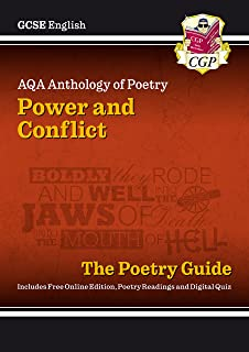 New GCSE English AQA Poetry Guide - Power & Conflict Anthology inc. Online Edition, Audio & Quizzes