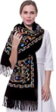 embroidered scarf india