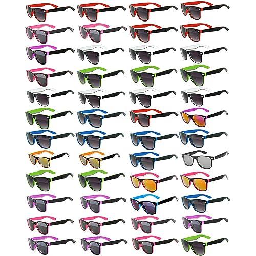 331747dfbb95 48 Pieces Per Case Wholesale Lot Sunglasses. Assorted Colored Frame Fashion  Sunglasses.Bulk Sunglasses
