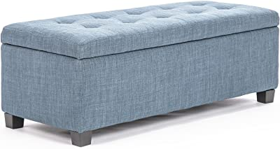 La Bella Storage Ottoman Fabric - Light Grey