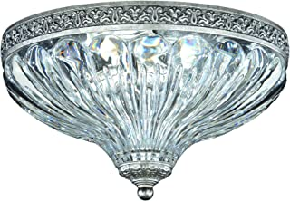 Schonbek 5630-22 Swarovski Lighting Milano Flush Mount Lightening Fixture, Heirloom Gold