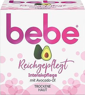 bebe Reichgepflegt Intensivpflege, Gesichtscreme mit Avocado-Öl, Trockene Haut, 50 ml