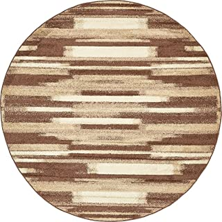 Modern Area Rug (Brown - 8'-Feed Round) Giza Collection Home Floor Décor Rugs - Living, Dinning, Office, Rooms & Bedrrom, Hallway Carpet