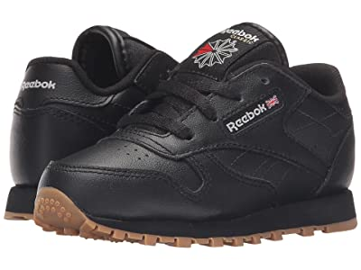 Reebok Kids Classic Leather Gum (Infant/Toddler) (Black/Gum) Kids Shoes