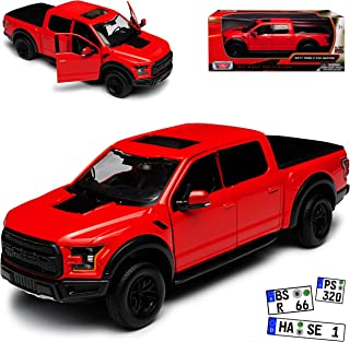 Motormax Ford F-150 Raptor Rot Pick-Up 13. Generation AB 2014 Version 2017 1/27 1/24 Modell Auto