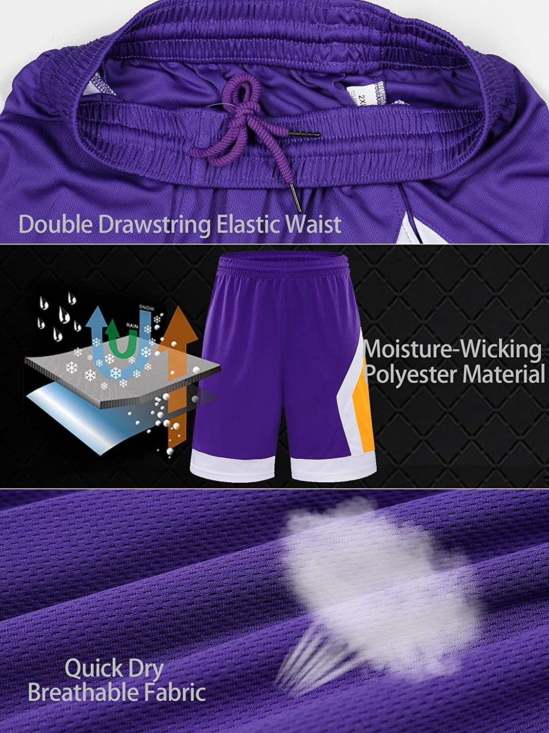 Mesh Running Workout Shorts Quick Dry//Moisture-Wicking Wisdom Leaves Mens Basketball Shorts with Pockets