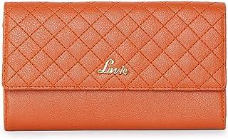 Lavie Halley Large Bi Fold Mobile Women's Wallet(Orange)