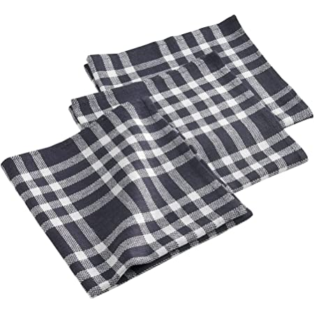Lot de 4 serviettes de table r/éutilisables et durables Motif /à pois Noir sur gris clair 50,8 x 50,8 cm