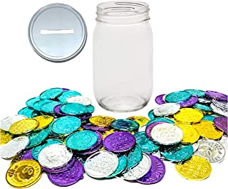 1 Mason Jar with 1 Piece Slotted Lid Regular Mouth Pint 16 Oz Piggy Bank Includes