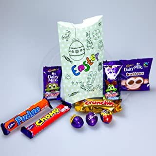 Cadbury Easter Pouch - By Moreton Gifts - Freddo Sprinkles, Caramel, Dairy Milk & Creme Mini Eggs, Buttons, Chomp, Freddo, Fudge And Crunchie