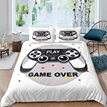 Bfrdollf Parure de lit décorative pour joueurs modernes, 100 % microfibre, impression numérique 3D, housse de couette pour...