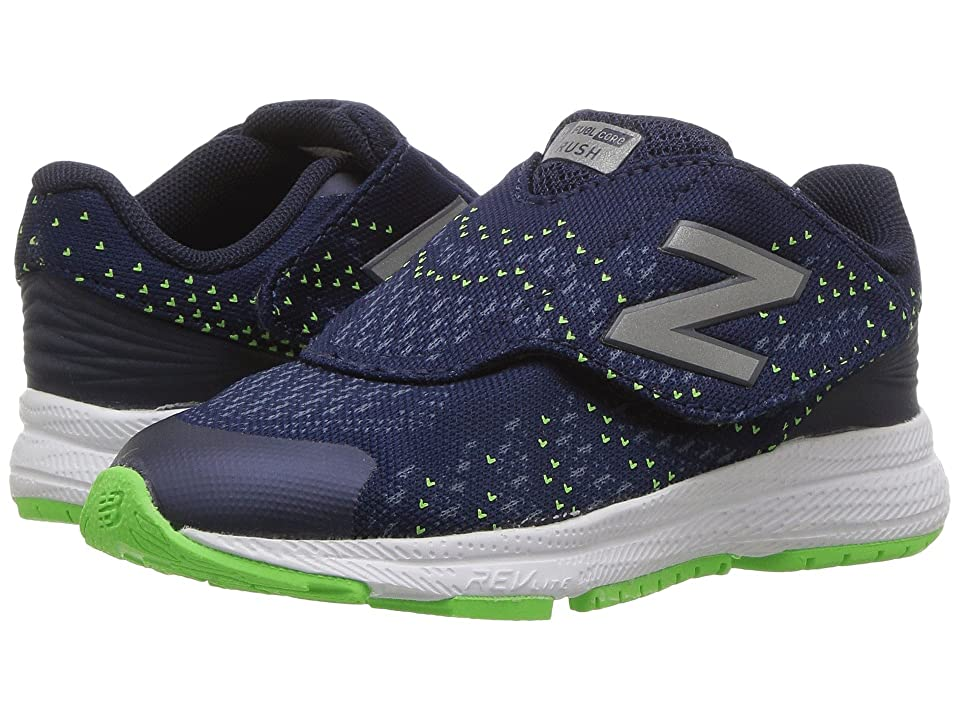 New Balance Kids Rush (Infant/Toddler) (Navy/Navy) Boys Shoes
