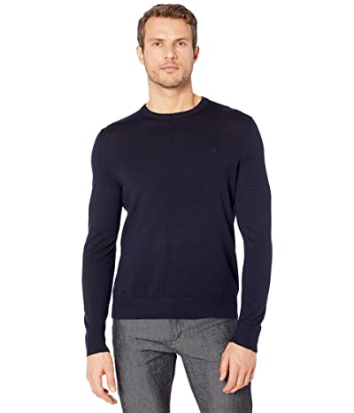 Calvin Klein Merino Crew Neck Sweater (Deep Creek) Men