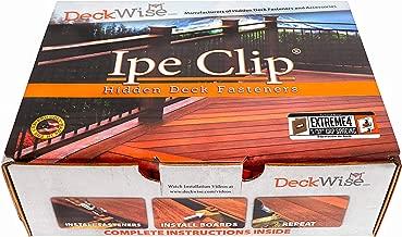 DeckWise (Brown) Ipe Clip EXTREME4 Hidden Deck Fasteners, 5/32