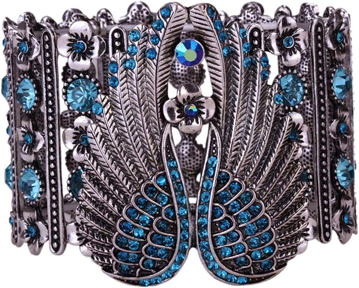 Hiddlston Nativity Crystal Christmas Blessing Guardian Angel Wing Feather Biker Jewelry Custom Stretch Arm Sleeve Wrap Multi-Layer Cuff Bracelet Chain for Women Teen Girls Bangle Ornaments Costume