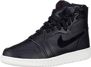 Jordan Women's Nike Air Jordan 1 Rebel XX Basketball Shoes (Black/Black/Sail/Barely Rose, 8.5)